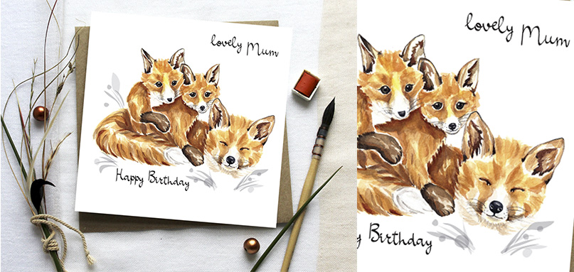 BIRTHDAY -> Lovely Mum -> Foxes