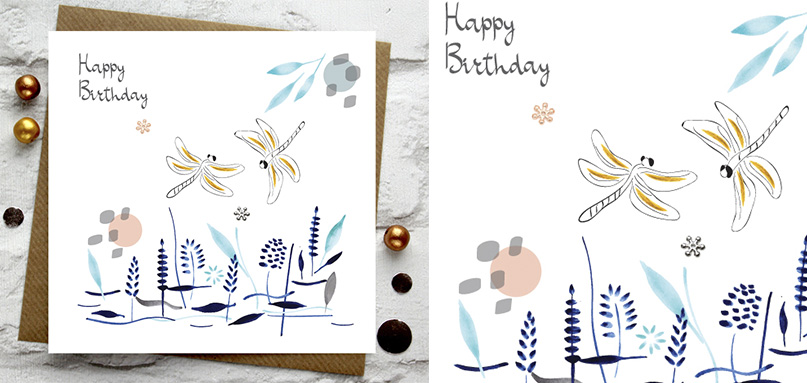 BIRTHDAY -> Happy Birthday -> Fly Dragonflies