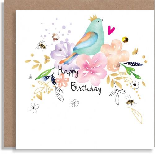 Birthday Green Bird