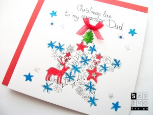 T02 Dad Christmas Handmade Greeting Card SABIVO Design800