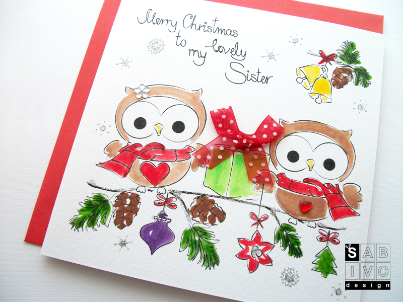 Why send your christmas cards on festive friday sabivo designs blog t10 sister christmas handmade greeting card sabivo design800 m4hsunfo