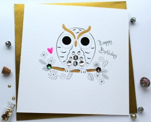 02 SABIVO Design Greeting Card Birthday Owl 800