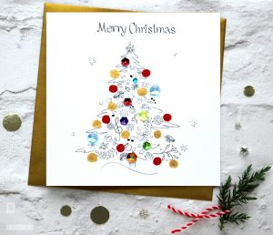 Christmas Tree Handmade Greeting Card SABIVO Design SM