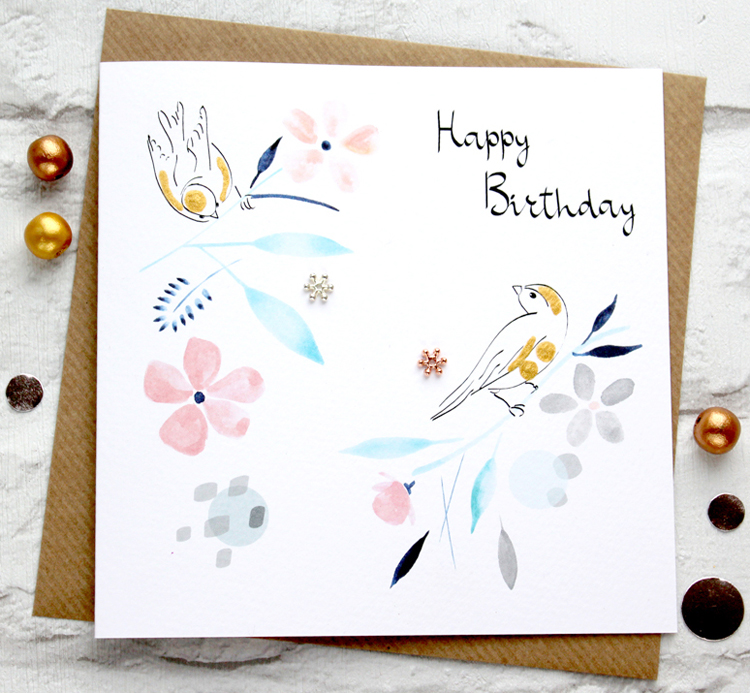 Greeting cards page 2 sabivo designs blog my designs style has changed over the years and this year i am hitting the spot with what is closer to me i have some contemporary birds with metallic m4hsunfo